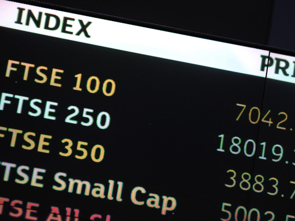FTSE Index screen