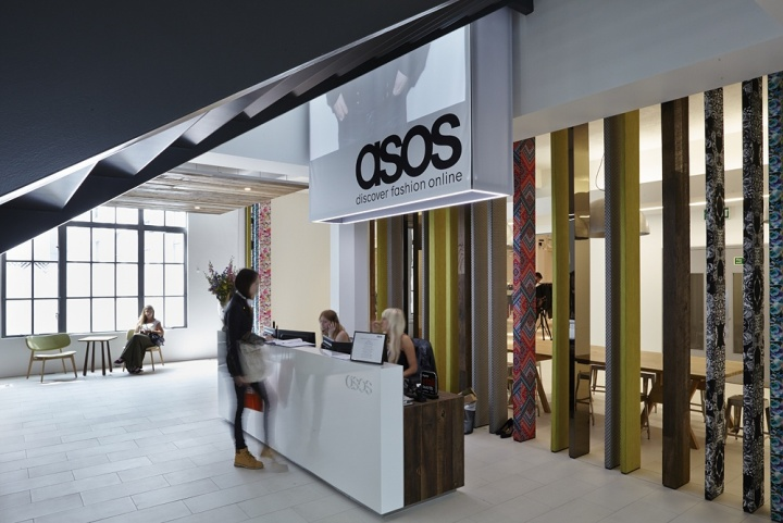 Asos global headquarter reception area