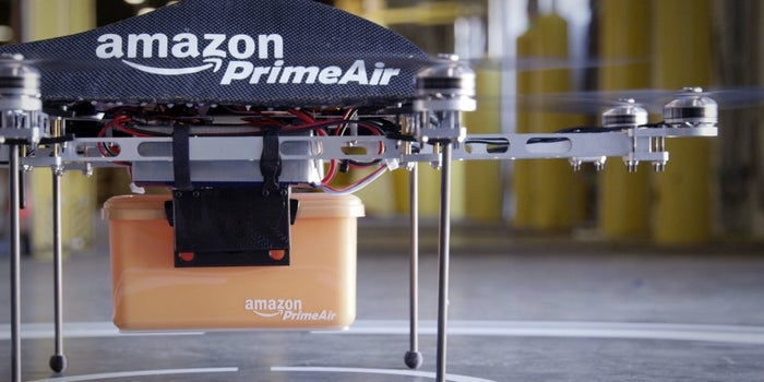 Amazon PrimeAir drone delivery vehicle