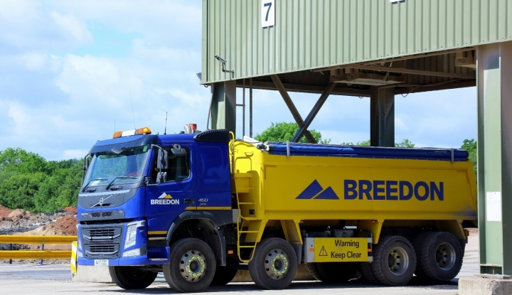 Breedon lorry