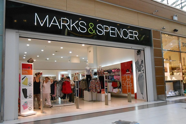 Marks & Spencer store front in shopping centre