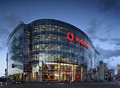 Vodafone headquarters building at night