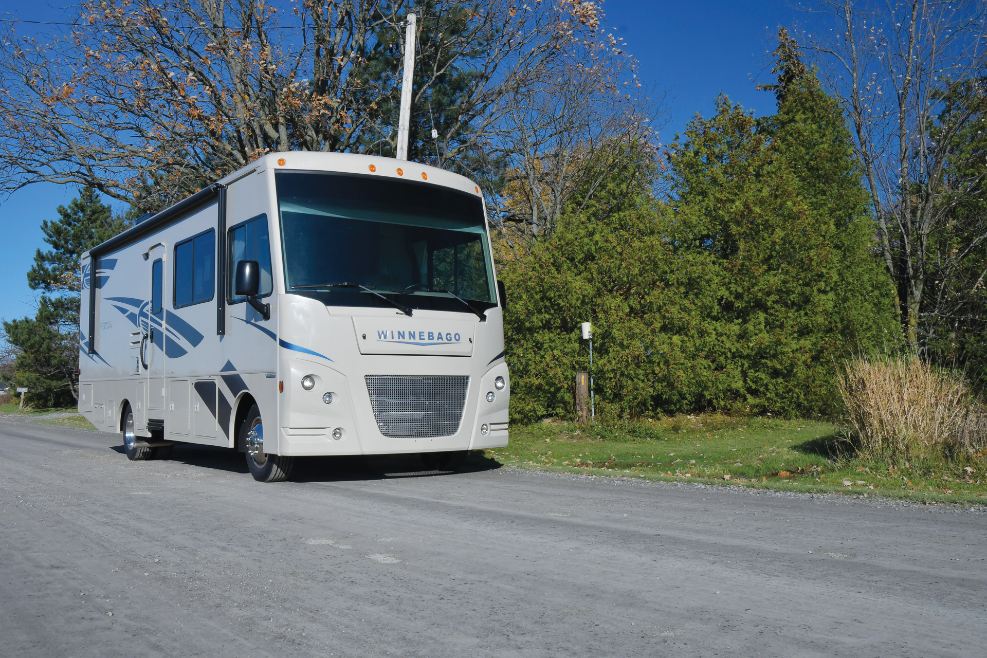 Large Winnebago RV driving in the US
