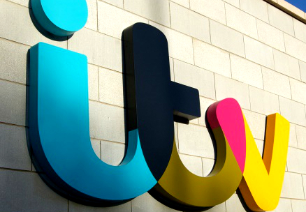 ITV logo on the side of a building